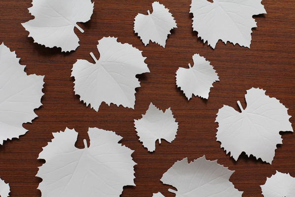 紙の葉 ブドウ