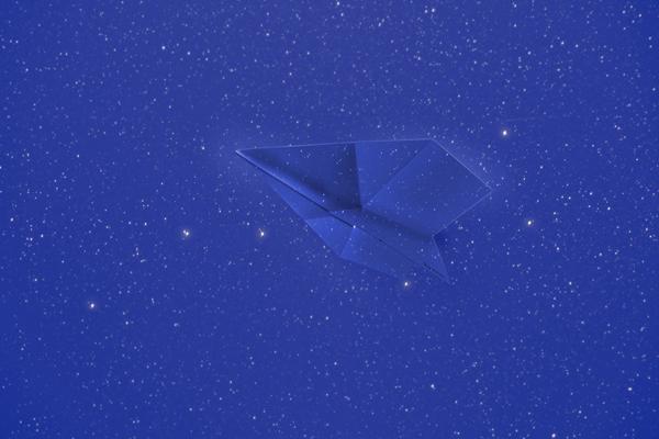 Par Avion よく飛ぶ紙飛行機便箋 夜間飛行 VOL DE NUIT